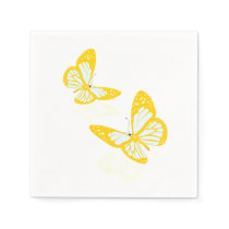 Two Yellow Butterflies Paper Napkins