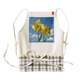 Two yellow Daffodils 2.2 Zazzle HEART Apron
