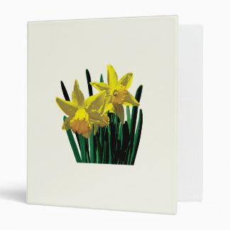 Two Yellow Daffodils Binders