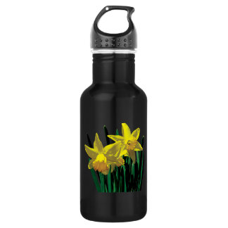 Two Yellow Daffodils 18oz Water Bottle