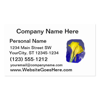 Two Yellow Flowers Blue Sky Business Card