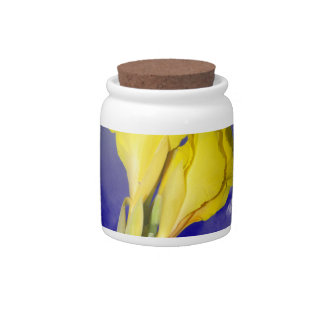 Two Yellow Flowers Blue Sky Candy Jars