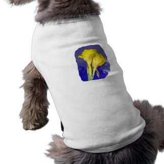 Two Yellow Flowers Blue Sky Doggie Shirt