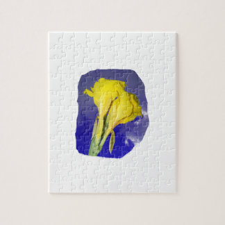 Two Yellow Flowers Blue Sky Jigsaw Puzzles