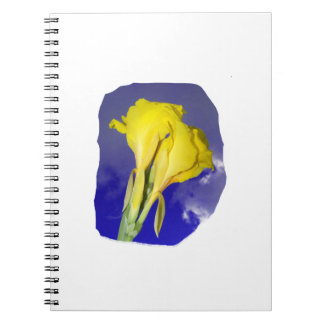 Two Yellow Flowers Blue Sky Spiral Notebooks