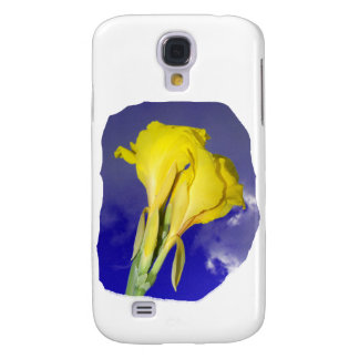 Two Yellow Flowers Dark Blue Sky Photo Galaxy S4 Cover