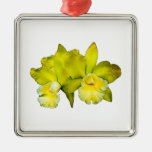 Two Yellow Orchids Christmas Ornaments