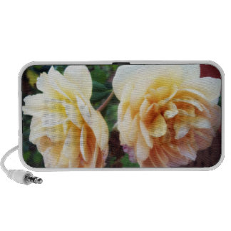 Two yellow roses portable speaker