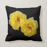 Two Yellow Roses Throw Pillows