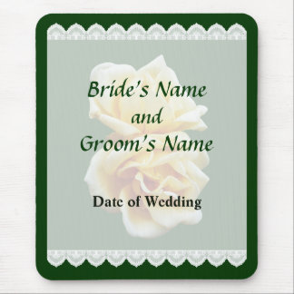 Two Yellow Roses Wedding Favors Mouse Pad