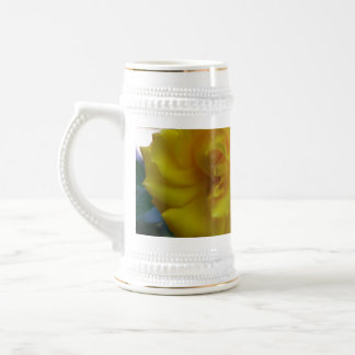 Two Yellow Roses with Leaves - flower photography Coffee Mugs