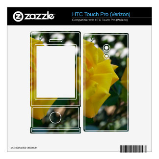Two Yellow Roses with Leaves - flower photography HTC Touch Pro Skin