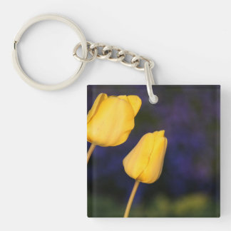 Two Yellow Tuilps Keychain