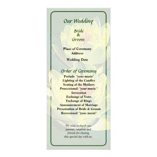 Two Yellow Watre Lilies Wedding Program
