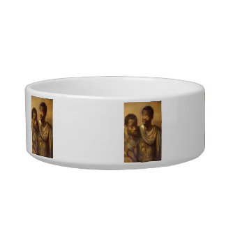 Two young Africans by Rembrandt Cat Water Bowls