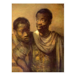 Two young Africans by Rembrandt Postcard