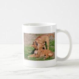 Two young dingos coffee mug