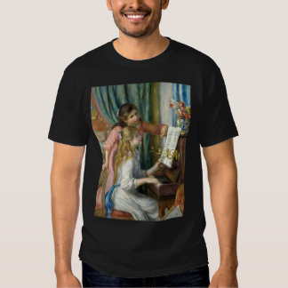 Two Young Girls at the Piano - Pierre-Auguste Reno T-shirts
