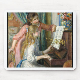 Two Young Girls at the Piano - Renior Mouse Pad