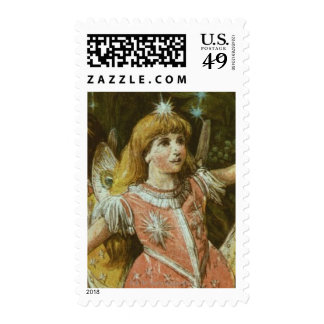 Two young girls perform ballet postage stamp