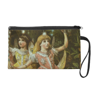 Two young girls perform ballet wristlet purse