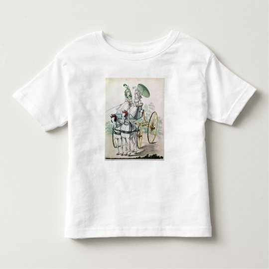 Two young ladies in calico gowns toddler t-shirt