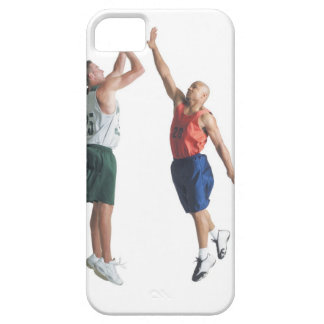 two young men dressed in opposing team iPhone 5 covers