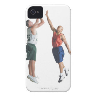 two young men dressed in opposing team iPhone 4 Case-Mate cases