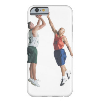 two young men dressed in opposing team barely there iPhone 6 case
