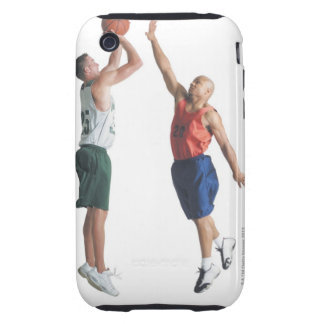 two young men dressed in opposing team iPhone 3 tough cases