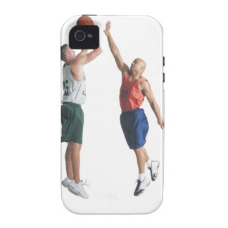 two young men dressed in opposing team vibe iPhone 4 covers