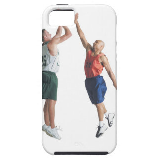 two young men dressed in opposing team iPhone SE/5/5s case