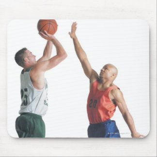 two young men dressed in opposing team mouse pad