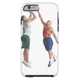 two young men dressed in opposing team tough iPhone 6 case