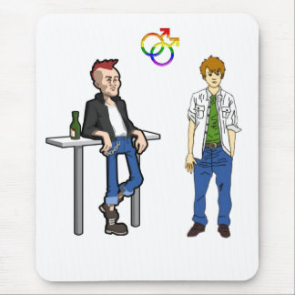 Two Young Men Mouse Pad