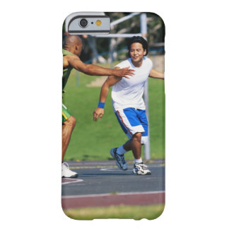 Two young men playing basketball barely there iPhone 6 case