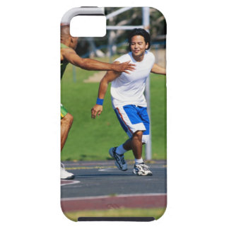 Two young men playing basketball iPhone SE/5/5s case