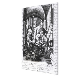 Two Young Noblemen Smoking, A Pro-Smoking Canvas Print
