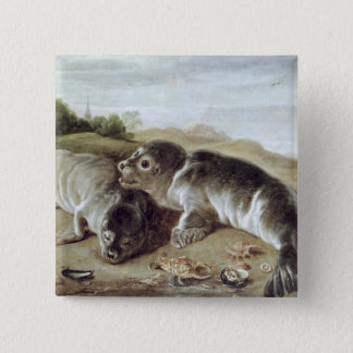 Two Young Seals on the Shore, c.1650 Button