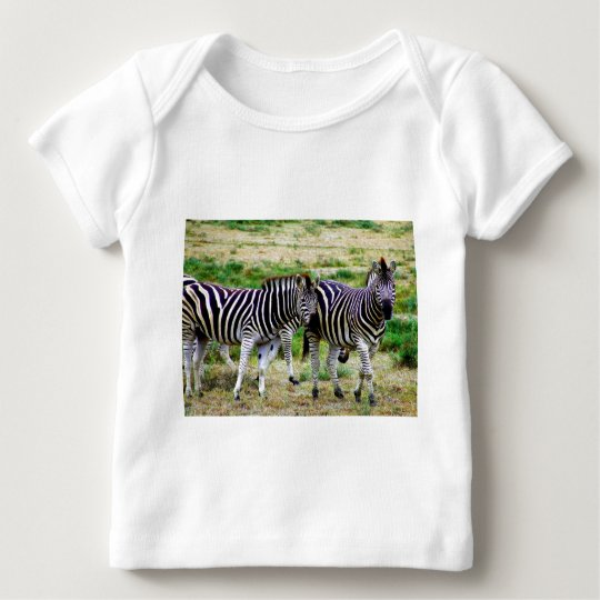 Two Zebras Baby T-Shirt