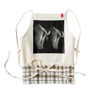 Two Zebras in Close Up View From Behind Zazzle HEART Apron