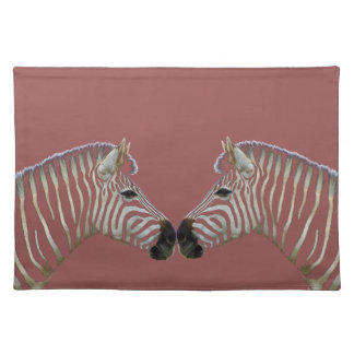 Two Zebras Nose to Nose Placemat