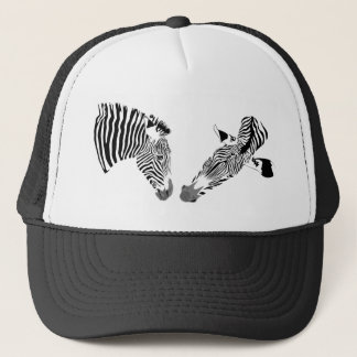 Two zebras trucker hat