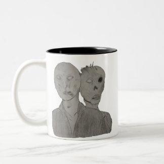 Two Zombies Two-Tone Coffee Mug