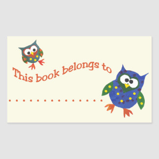 TwoCute Owls Stick-on Bookplates