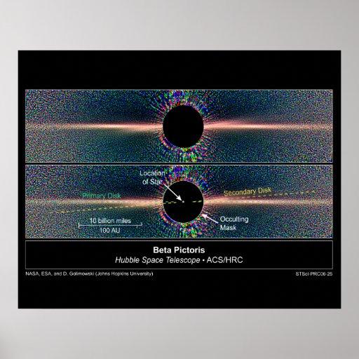 TwoDustDisksAroundBetaPictoris-200 Impresiones
