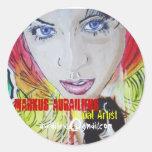 twolove, Markus Aurailieus, Visual Artist, aura... Classic Round Sticker