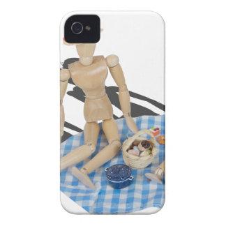 TwoPeoplePicnicBasketGinghamBlanket042014.png iPhone 4 Cases
