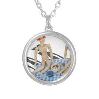 TwoPeoplePicnicBasketGinghamBlanket042014.png Round Pendant Necklace
