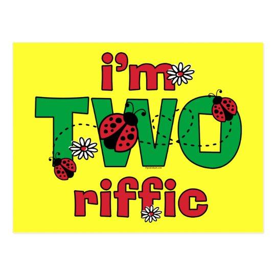 TWOriffic Ladybug 2nd Birthday Postcard
